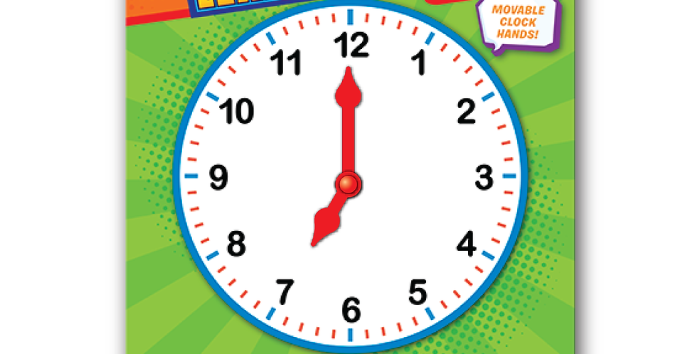 Learning Time Wipe-off Activity Board - 7+ Ages w/o Minutes