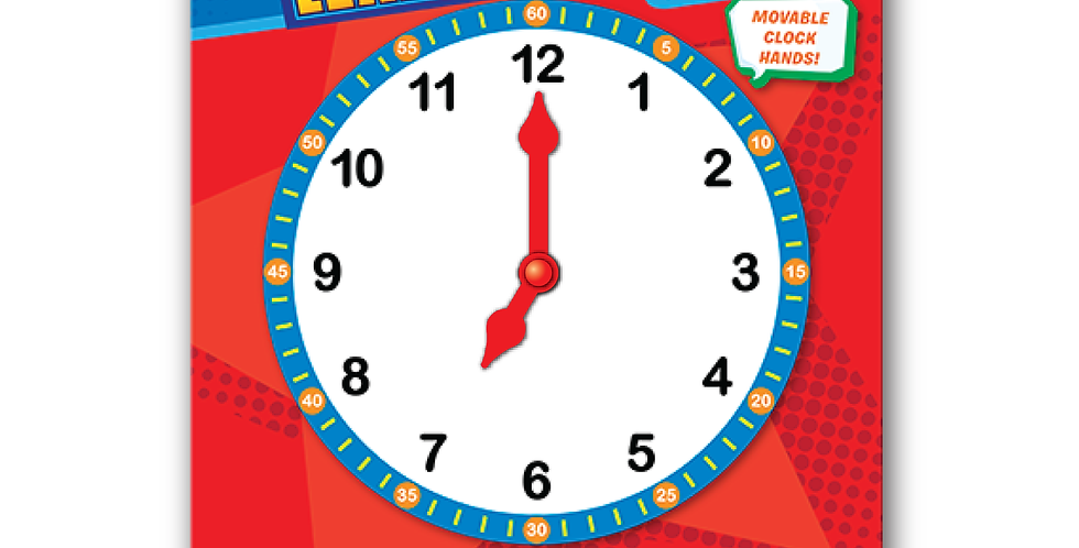 Learning Time Wipe-off Activity Board - 4+ Ages with Minutes