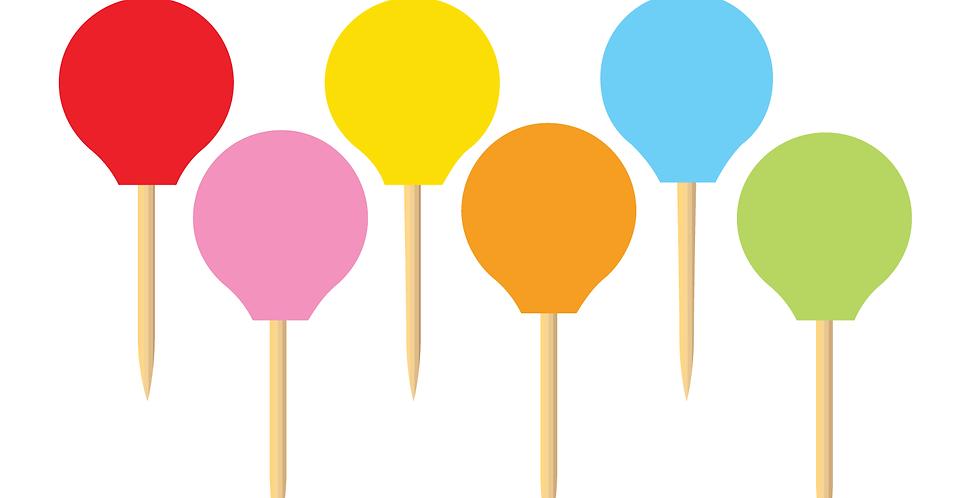 Solid Colors Party Picks (18 pcs.)