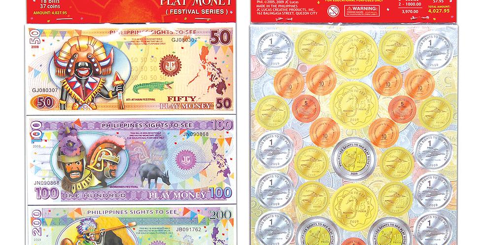 Philippine Festival Play Money (Bills & Coins)