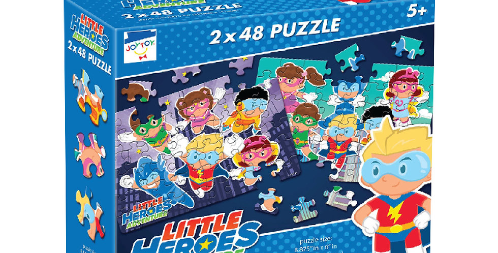 Little Heroes Adventure 2 x 48 Puzzle