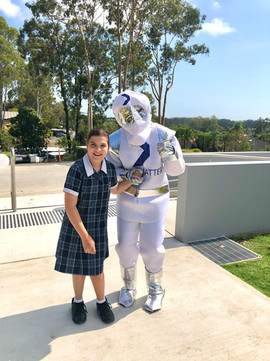 Astro enjoys spending time with students at Gold Coast Christian College