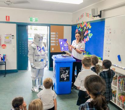 Astro instigates blue bottle bins around school campus