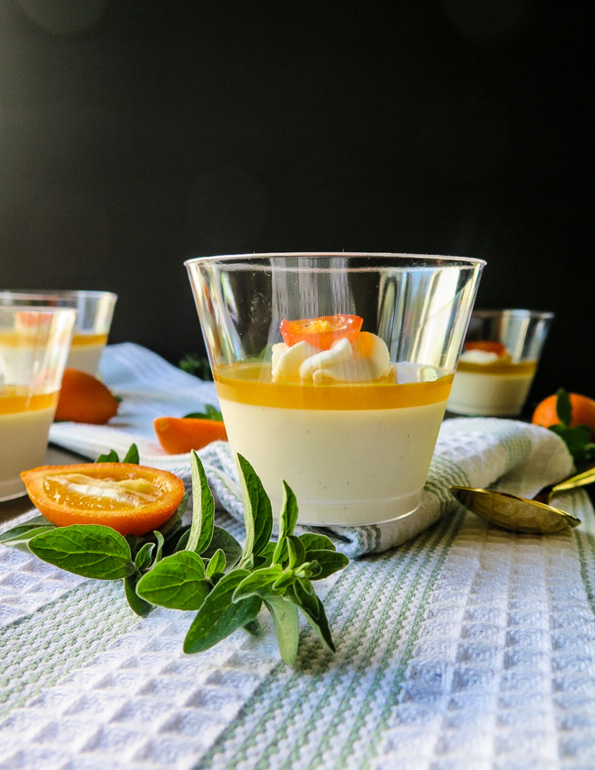 Honey Citrus Panna Cotta