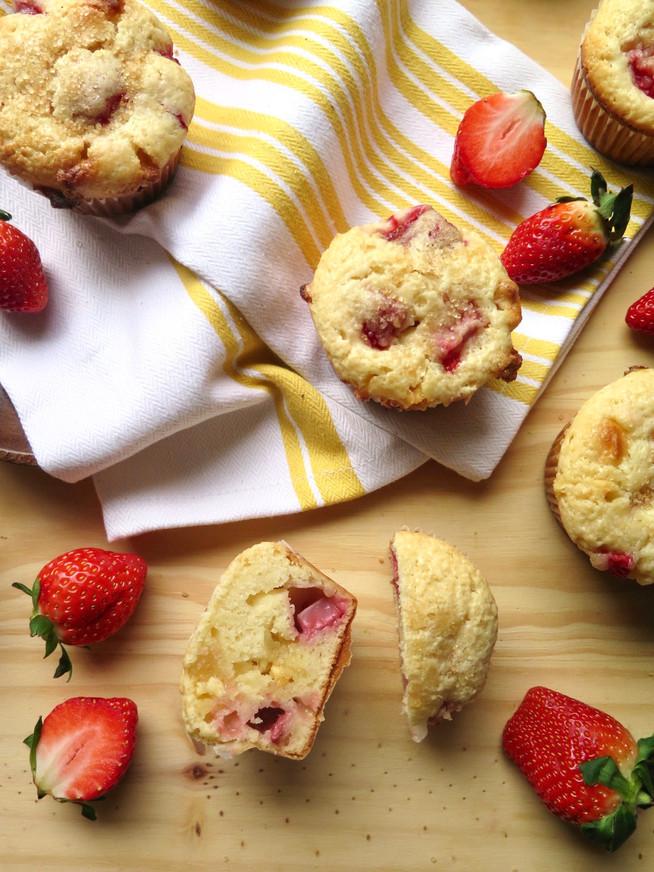 White Chocolate Strawberry Muffins
