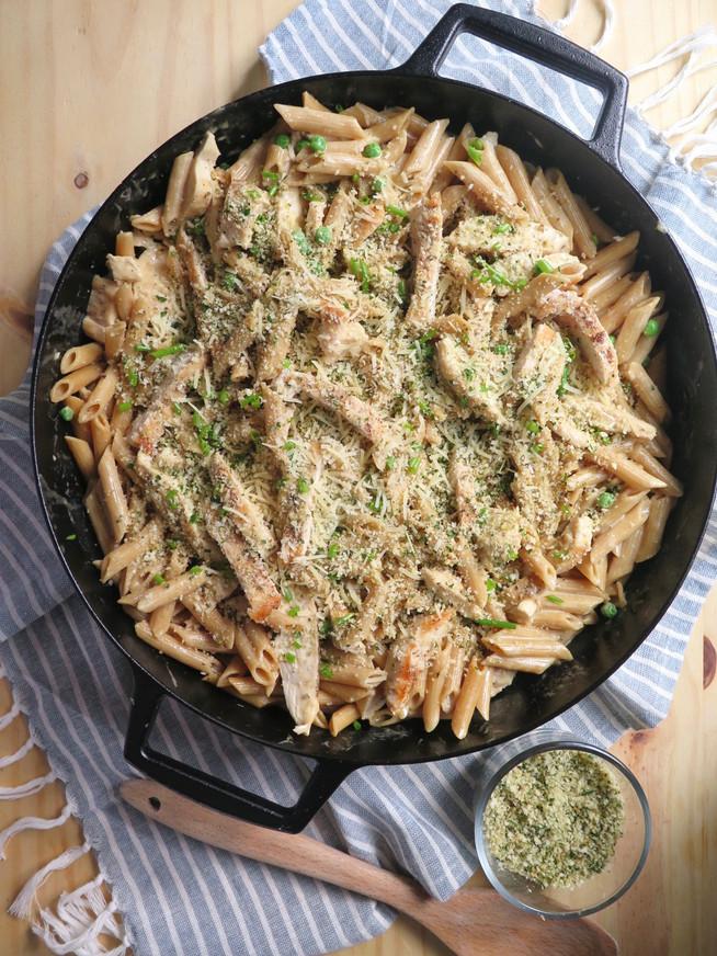 Chicken Carbonara with Peas