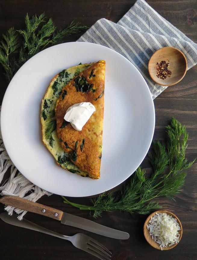 Creamy Spinach Omelette