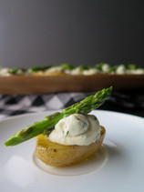Roasted Potato Appetizer with Asparagus