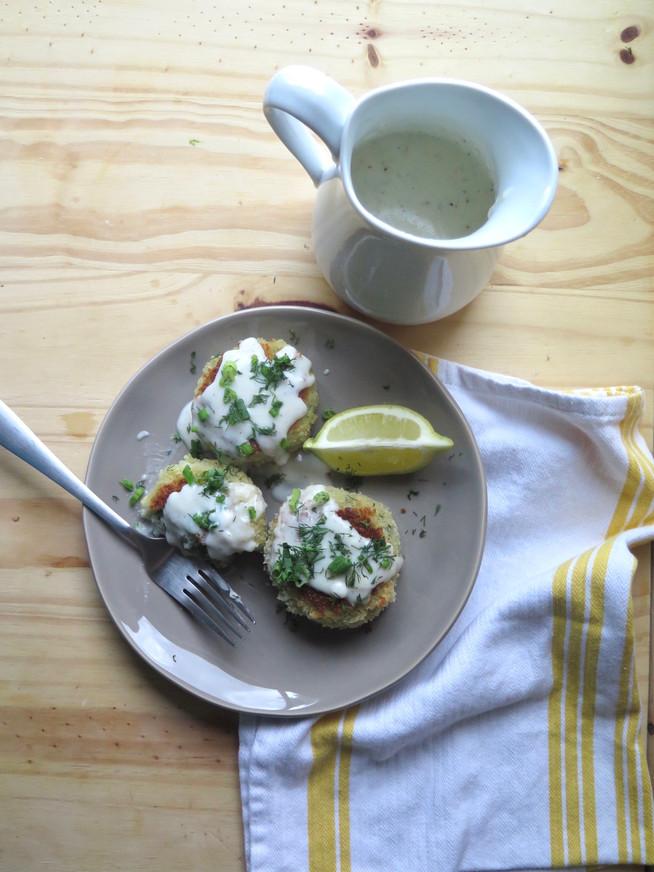 Smoked Trout and Potato Patties with Lemon Bechamel