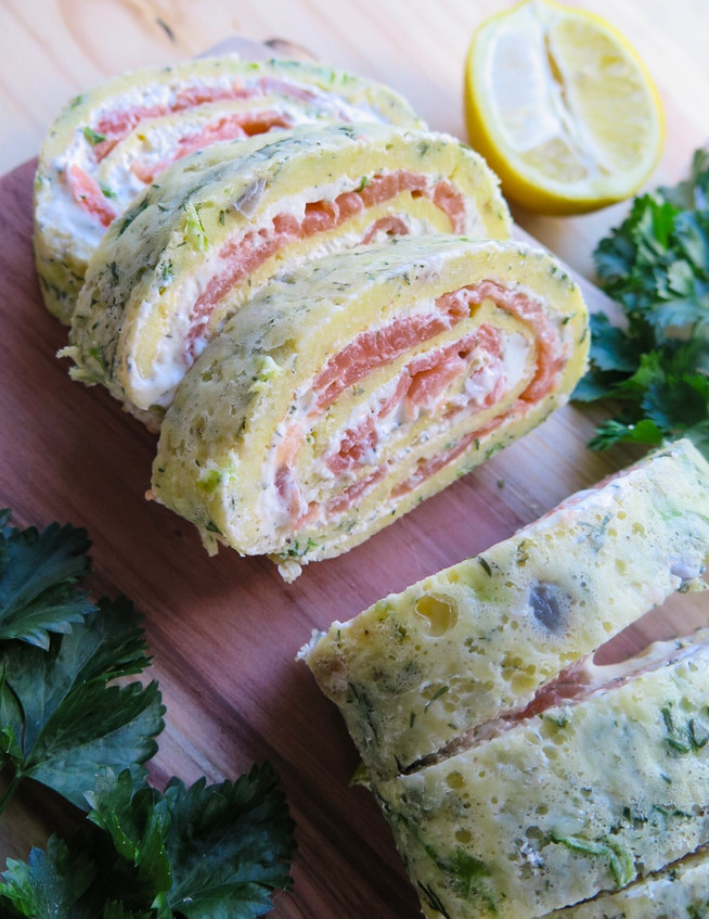 Salmon and Herb Roll