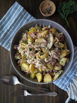 Roasted Potato and Bacon Salad