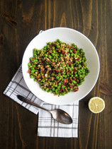 Peas with Bacon and Hazelnuts