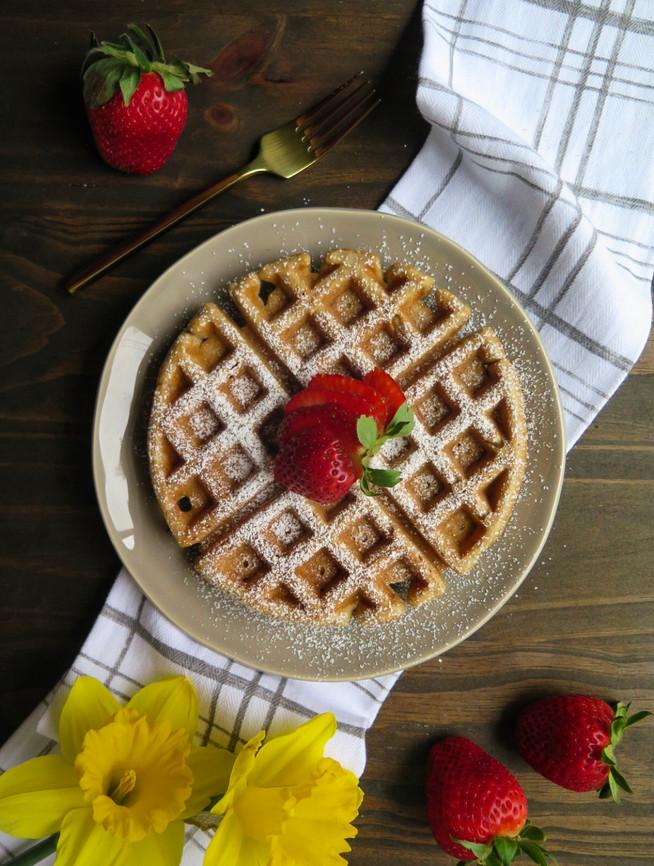 Whole Wheat Almond Waffles