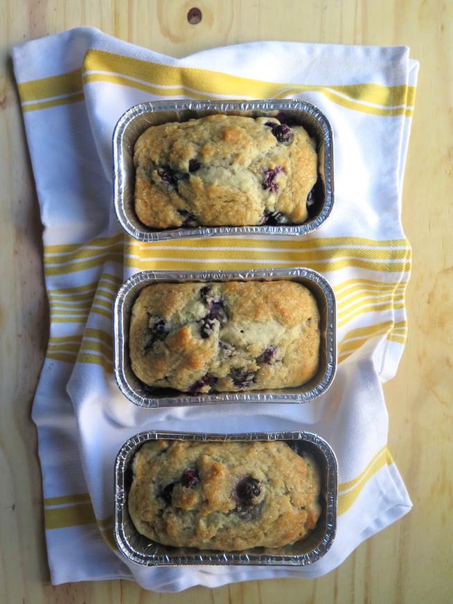Blueberry Kefir Mini Loafs