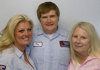 Katrina, Tim and Lori, Owners of TJ's Auto Repair in Warrenton, Oregon. TJ's is family owned and operated. 503-861-AUTO