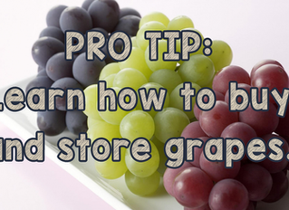 How to buy and store grapes