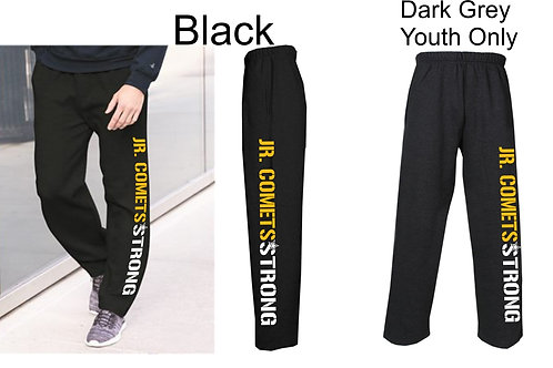 Football -Open Bottom Sweatpants Youth/Adult