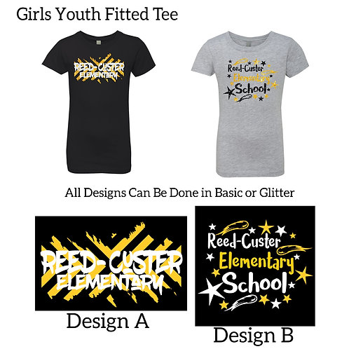 Girls Youth Fitted Tee