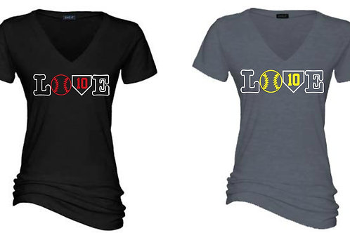 LOVE Design- Ladies V neck