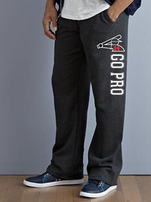 Go Pro-JERZEES® NuBlend® Pocketed Open Bottom Sweatpants