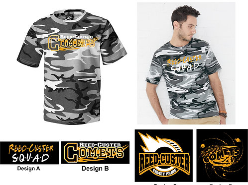Camo T-shirt Youth/Adult