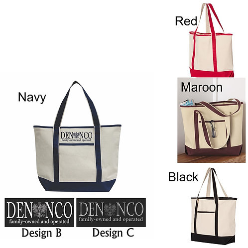 Q-Tees - 34.6L Large Canvas Deluxe Tote