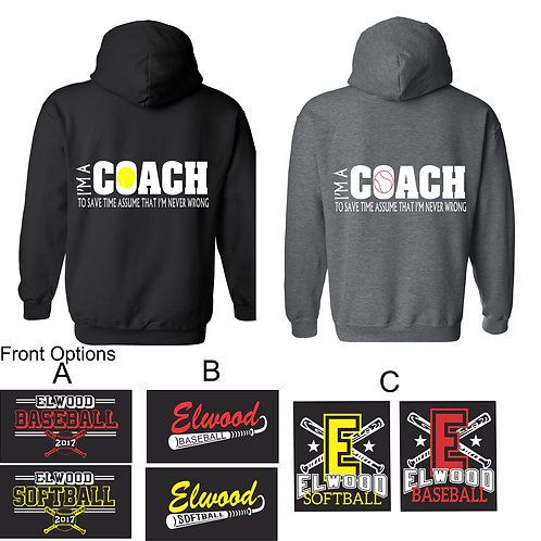 I'm A Coach Back Design-Unisex Adult Hoodie