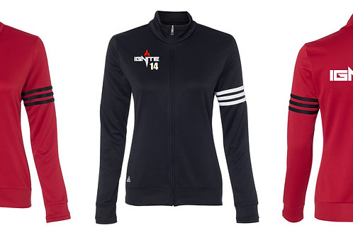 Adidas- Women's ClimaLite 3-Stripes French Terry Full-Zip Jacket