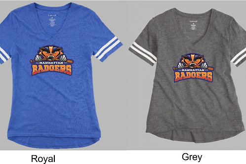 Badger Large Logo-Ladies/Girls Sporty Slub Tee