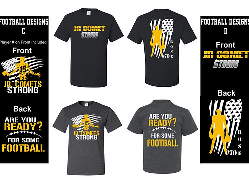 Football -Dri-Power Tee Youth/Adult