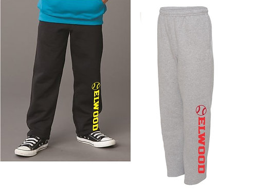Elwood Sweatpants Pocket Open Bottom