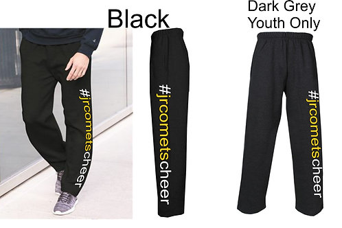 Cheer- Open Bottom Sweatpants Youth/Adult