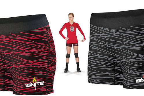 Ignite Logo - Ladies Fitted Performance Shorts