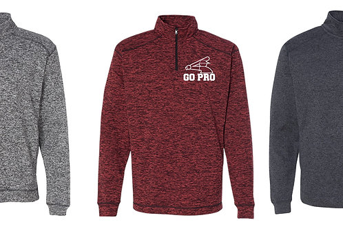 Go Pro-Cosmic Fleece Quarter-Zip Pullover Sweatshirt