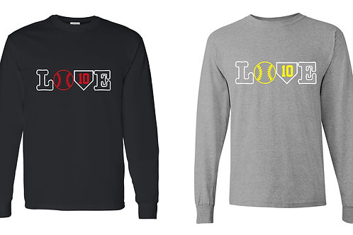 LOVE Design-Adult/Youth/Ladies Long Sleeve T-shirt