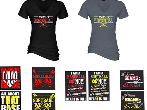 Design A w/Back Option-Ladies V Neck T-Shirt