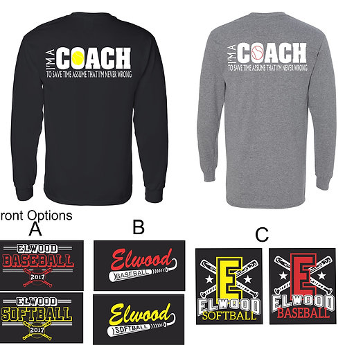 I'm A Coach Back Design-Unisex Adult Long Sleeve