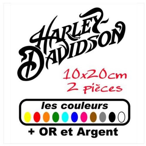 sticker Harley Davidson 20x10cm 2 pièces