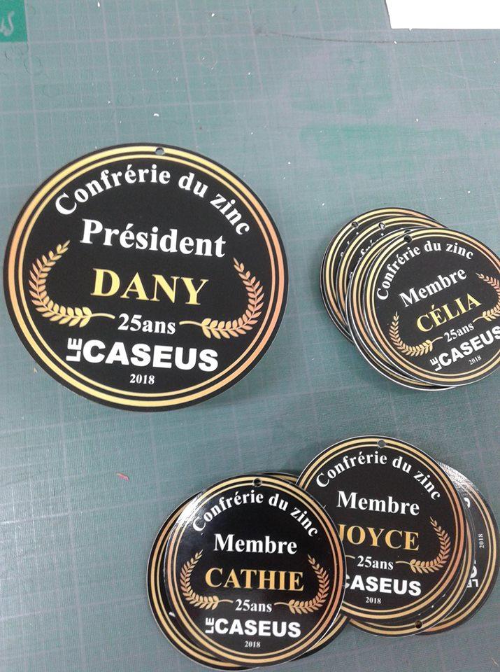 medaille personnalisée en Reynobond