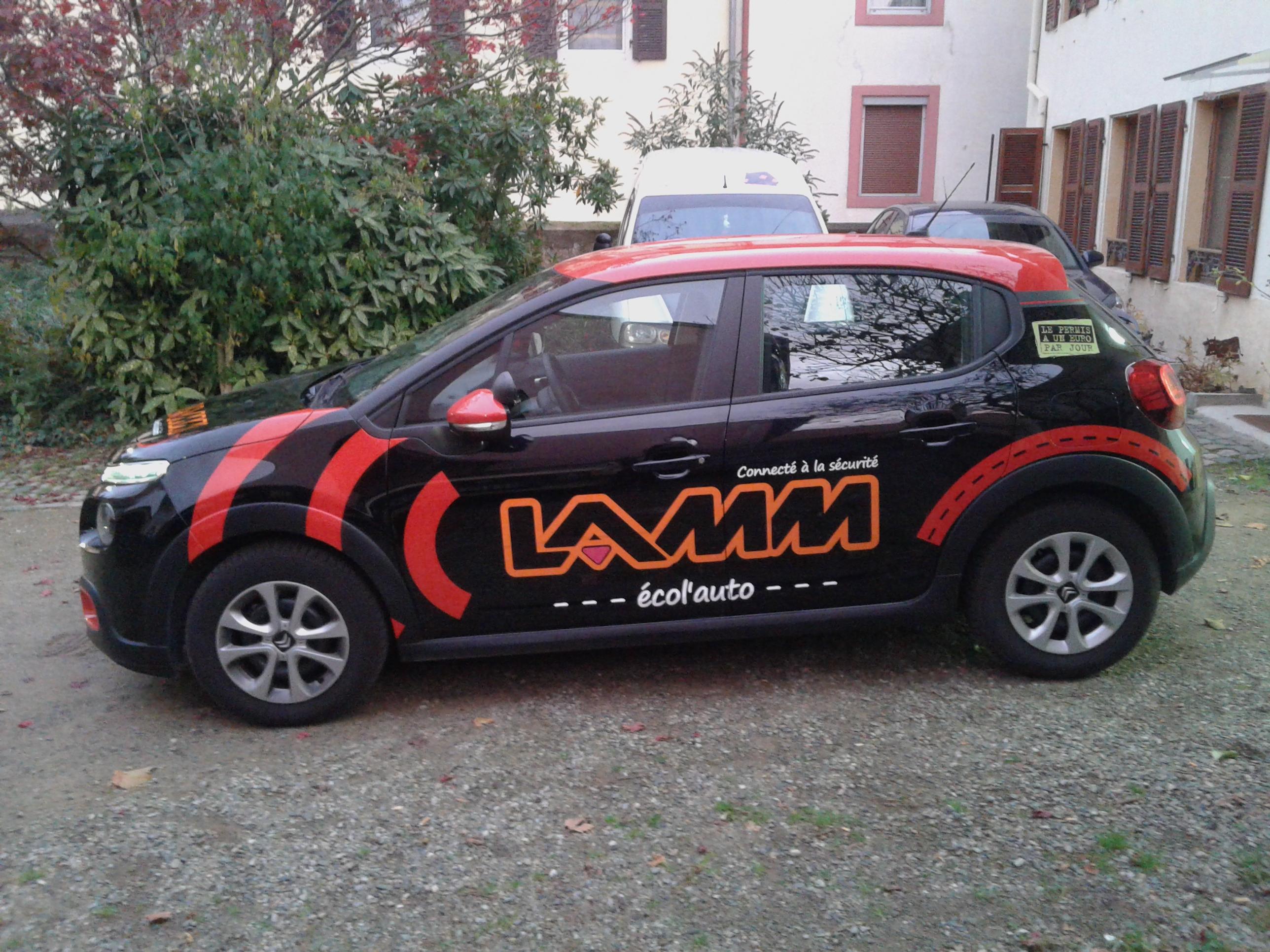 flocage voiture auto-école