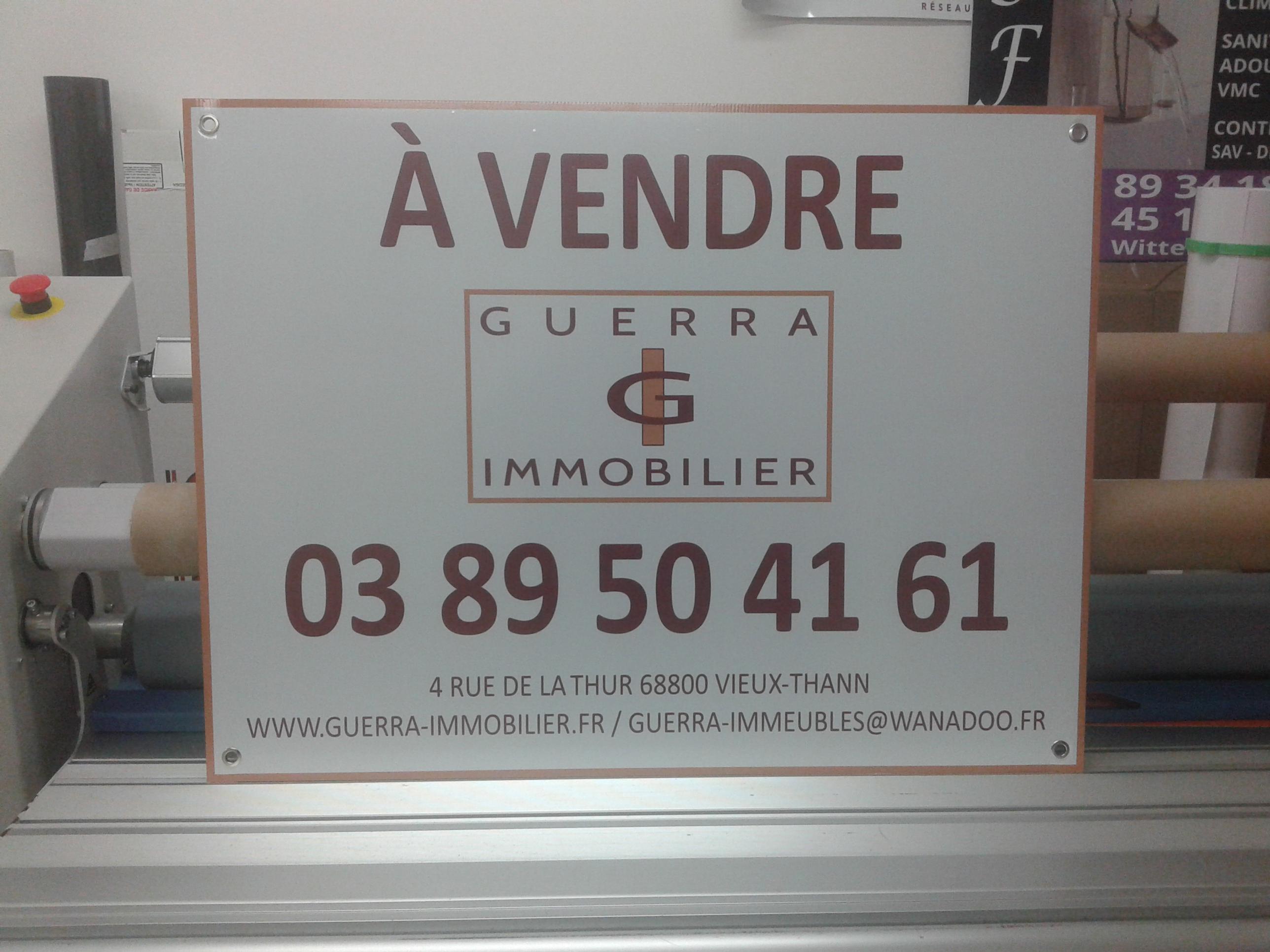 panneau a vendre agence immobilière