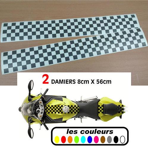 Damier reservoir moto - café racer - bobber - scrambler