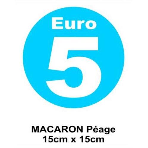macaron Euro 5 collage interieur, visible de l'exterieur