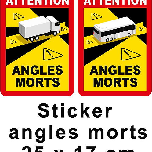 Sticker angle mort camion arrêté 313 - LOT DE 3 pieces