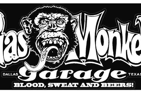 sticker autocollant Gas Monkey garage (1 droite et 1 gauche)