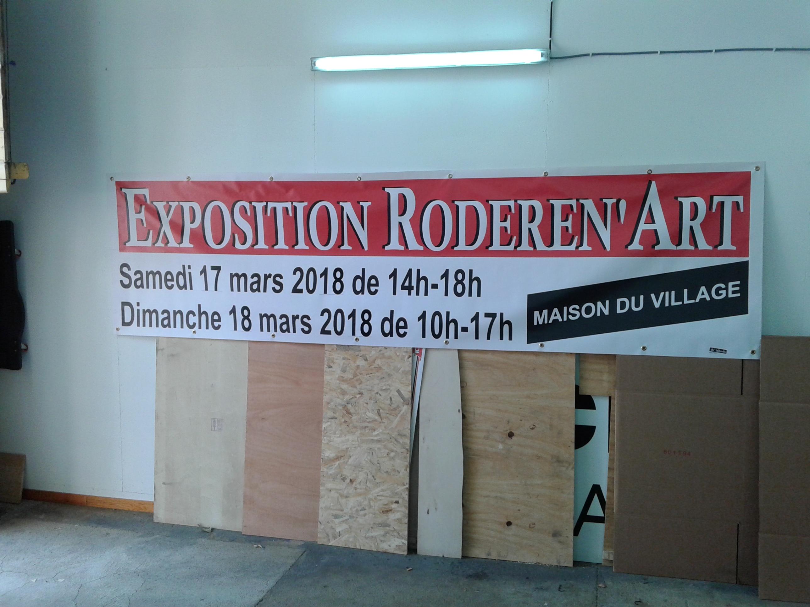 Banderole pour association Roderen