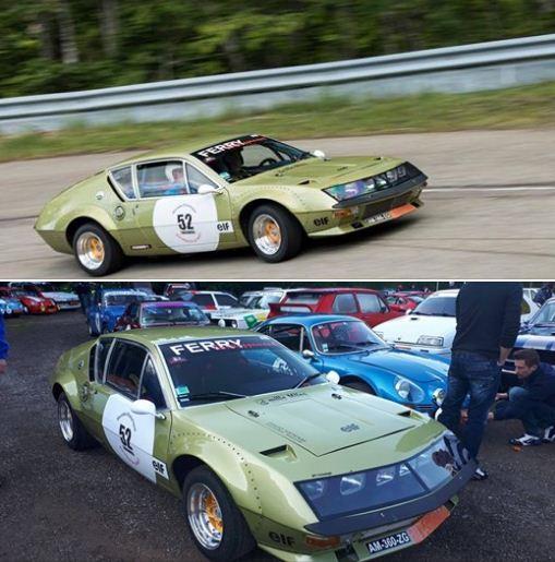 déco adhésive sur Renault Alpine