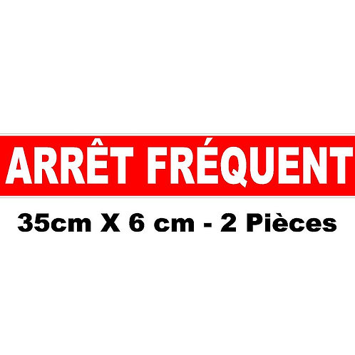 Arrêt fréquent livraison / magnétique 35x6cm / 2 pièces