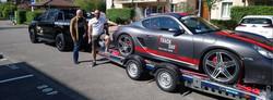 pick up Ford Ranger et Porsche Cayma