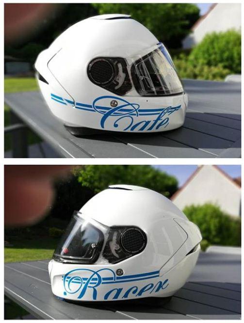 casque moto personnalisé